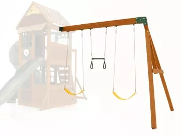 epic climbing frame with swings