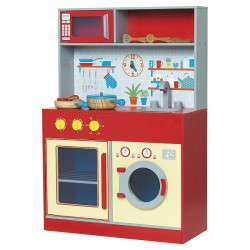 Bucatarie din lemn Red Kitchen Lets Cook OnlyToys