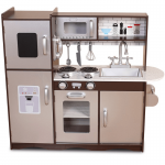 Bucatarie multifunctionala de joaca copii din lemn - Large Brown Espresso Play Kitchen