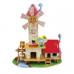 Moara Mill House Forest Cabin - Puzzle  3D din lemn