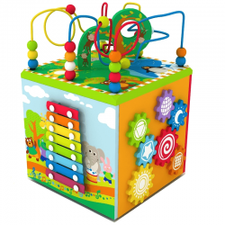 Cub Centru activitati Magic Box 5 in 1 cu baza rotativa