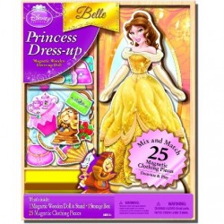 Joc magnetic de vestimentatie - Belle Disney Princess