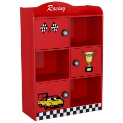 Biblioteca Race Car Monza rafturi inchise si deschise - Premium MDF Ultra High Gloss