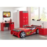 Birou Deluxe Race Cars Desk Monza  rosu- Premium Ultra High Gloss Quality