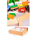 Set Trenulet Wooden Train 100 piese